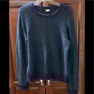 Fossil Sweaters - FOSSIL navy and green sparkly sweater